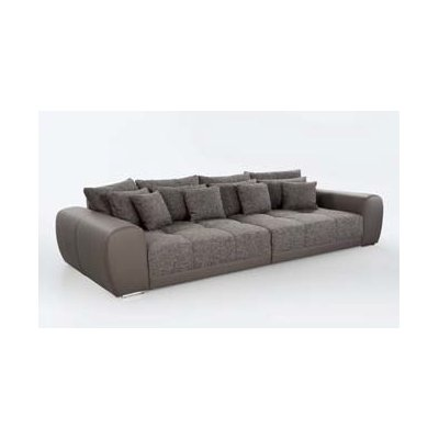 Salon/zetelbed big sofa (excl.poef) taupe