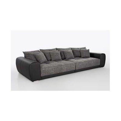 Salon/zetelbed big sofa (excl.poef) zwart
