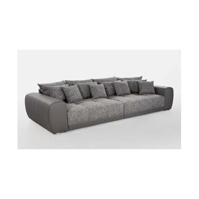 Salon/zetelbed big sofa (excl.poef) grijs