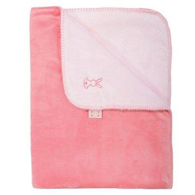 Plaid lapidou roze/koraal (75x100)
