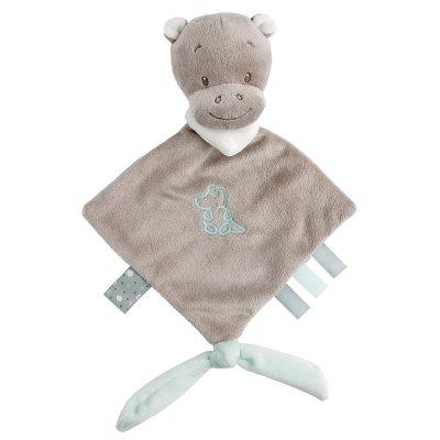 Mini knuffeldoek hippolyte, het nijlpaard