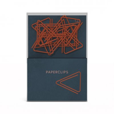 Midnight gold paperclips
