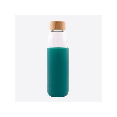 Glazen fles petrolgroen 580ml pv-liv-7106