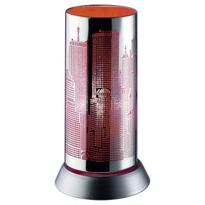 Tafellamp chroom-rood