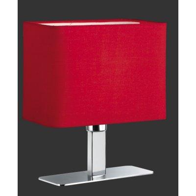 Tafellamp chroom/rood
