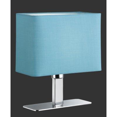 Tafellamp chroom/turquoise