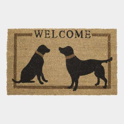 Deurmat 2 honden welcome