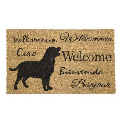 Deurmat honden welcome