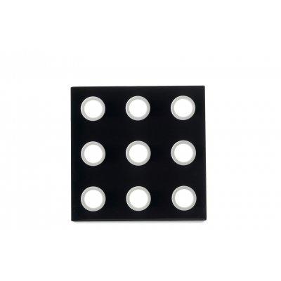 Onderzetter domino zwart