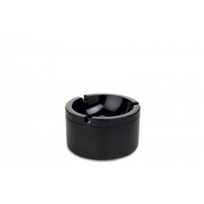 Asbak met deksel zwart