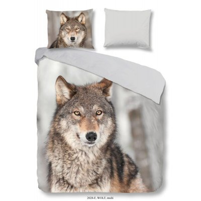 Overtrek éénpersoons - wolf flanel (140x220)