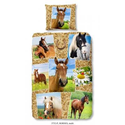 Overtrek eenpersoons paard (140x220)