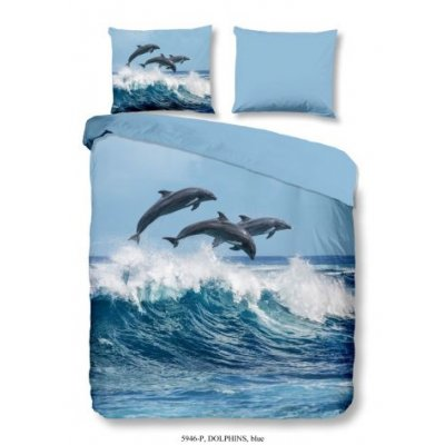 Overtrek eenpersoons dolfijn (140x220)