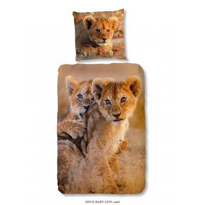 Overtrek eennpersoons baby lion (140x220)