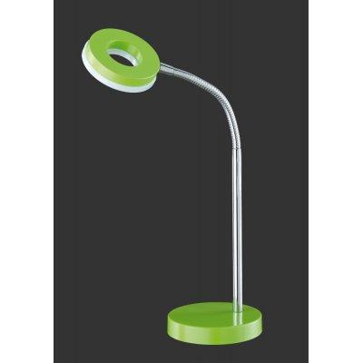 Bureaulamp chroom/groen led