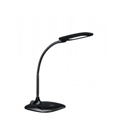 Bureaulamp touch zwart led