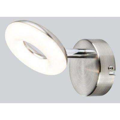 Wandlamp nikkel 10cm led
