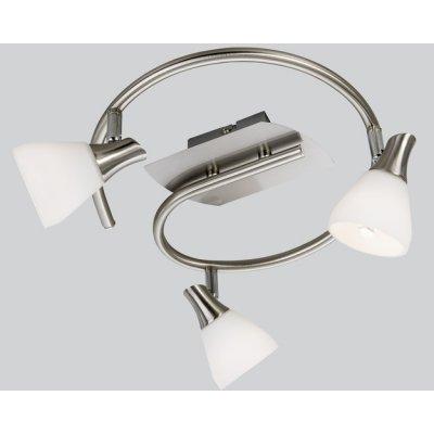 Plafondlamp nikkel mat