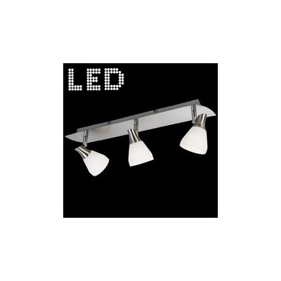 Plafondlamp / rail nikkel mat