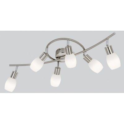 Plafondlamp nikkel/wit led