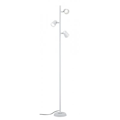 Staanlamp narcos wit (incl. led)