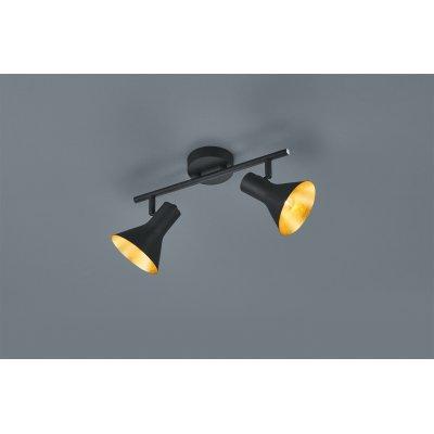 Plafondlamp nina-2 zwart/goud (excl. lamp)