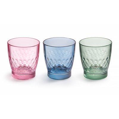 Leerdam 3 beker glazen smooth mix