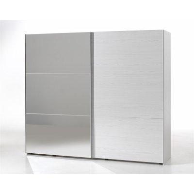 Kleerkast 250cm (2 schuifdeuren) + spiegel