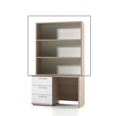 Opzet voor bureau hout/wit