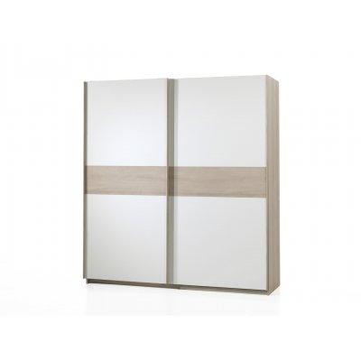 Kleerkast 2sd hout/wit (200cm)
