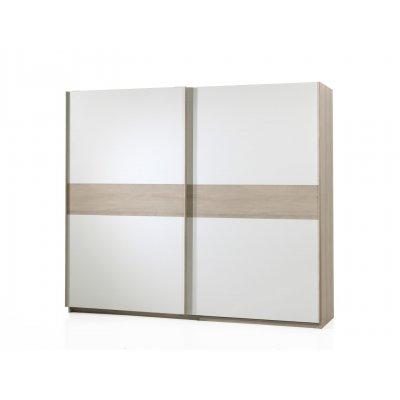 Kleerkast 2sd hout/wit (250cm)
