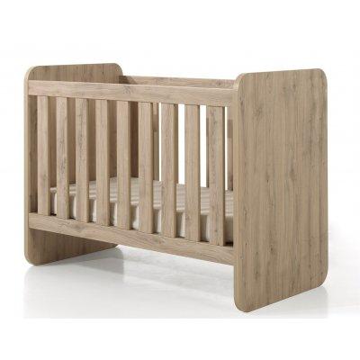 Babybed houtkleur (omvormbaar) - 60x120