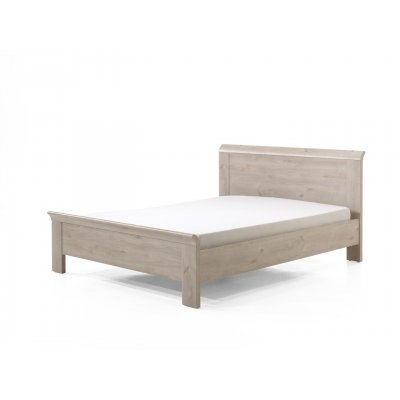 Bed houtkleur (incl. middenlat) - 160x200