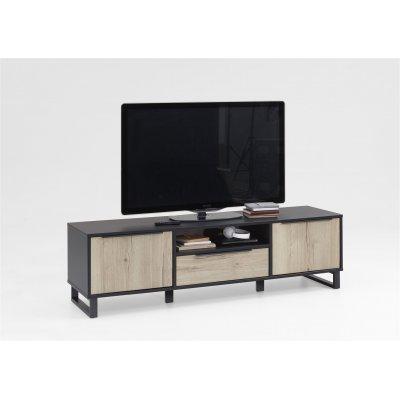 Tv-meubel - 2 deuren + 1 lade + 1 open vak