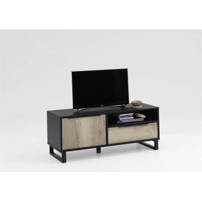 Tv-meubel - 1 deur + 1 lade + 1 open vak