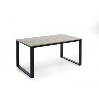 Tafel antraciet/hout (199cm)