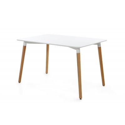 Tafel wit & hout (120x80cm)