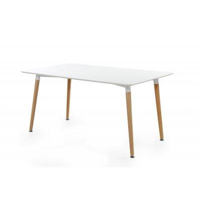 Tafel wit & hout (150x90cm)