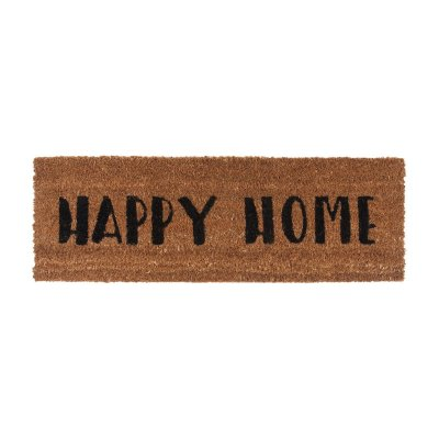 Deurmat happy home zwart pt2989bk