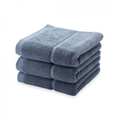 Adagio handdoek  steen blauw (55x100)