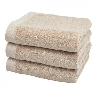 Milan handdoek beige (55x100)