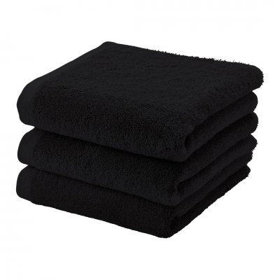 Badhanddoek london zwart (55x100)