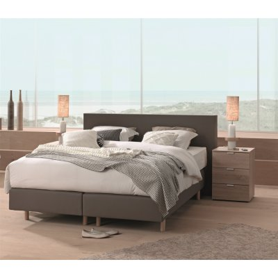 Boxspring taupe - 140x200