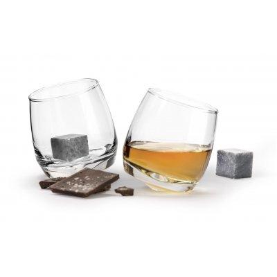 Whisky glas + stenen (geschenkverpakking)