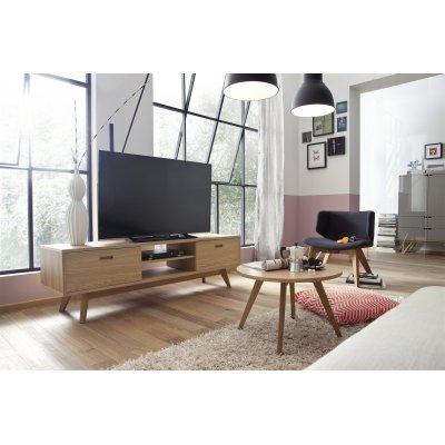 Tv-meubel met 2 laden eik (170cm breed)