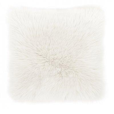 Kussen + sloop schapenvacht wit