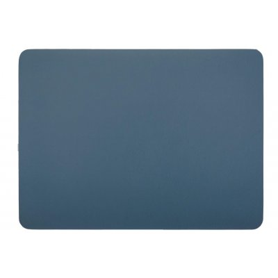 Placemat leatherlook blauw