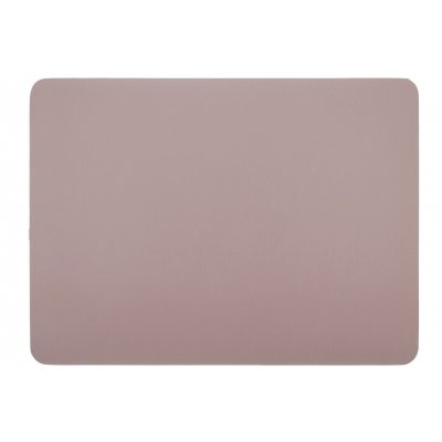 Placemat leatherlook mauve