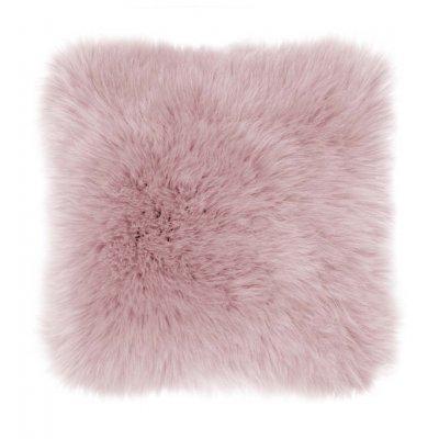 Kussen + sloop schapenvacht old pink
