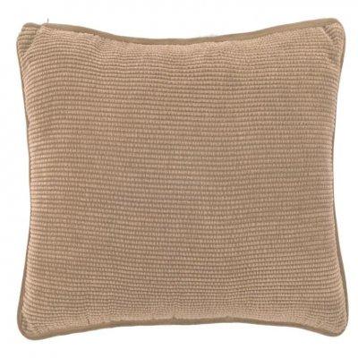 Ribble kussen gevuld indian tan (45x45cm)